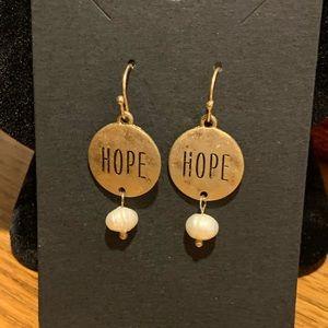 """Genuine Freshwater Pearl """"HOPE"""" Earrings"""
